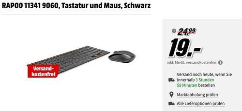 Rapoo 9060 schnurloses Tastatur-Maus-Set - jetzt 24% billiger