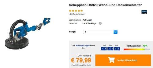 Scheppach Wand- und Deckenschleifer - jetzt 11% billiger