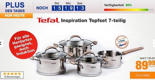 Tefal Inspiration Topfset 7-teilig - jetzt 38% billiger
