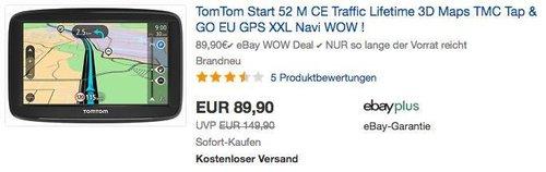 TomTom Start 52 M CE 5 Zoll Navigationsgerät - jetzt 9% billiger
