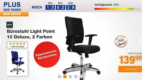 Topstar Bürostuhl Light Point 10 DELUXE in Blau oder Schwarz - jetzt 44% billiger
