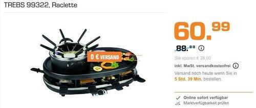 TREBS 99322 Raclette/Fondue/Grill - jetzt 24% billiger