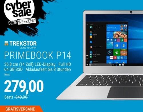 """TREKSTOR PrimeBook P14-PO Laptop (14,1"""" FHD IPS, Pentium N4200, 4GB/64GB SSD, Win 10) - jetzt 20% billiger"""