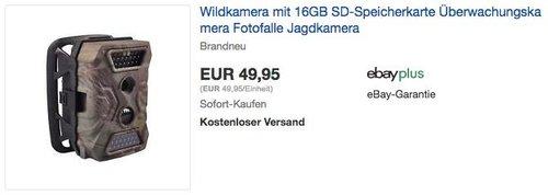 Ultrasport Wildkamera Überwachungskamera mit 16GB SD-Speicherkarte - jetzt 21% billiger