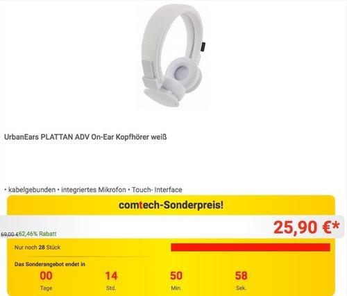 UrbanEars PLATTAN ADV On-Ear Kopfhörer - jetzt 28% billiger