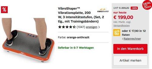 VibroShaper™ Vibrationsplatte mit 3 Intensitätsstufen - jetzt 9% billiger