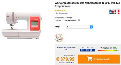 W6 Nähmaschine N 5000 mit 323 Programmen - jetzt 12% billiger