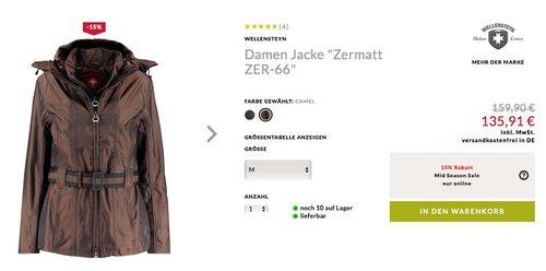 "Wellensteyn Damen Winterjacke  ""Zermatt ZER-66"" - jetzt 15% billiger"