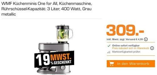 WMF Küchenminis One for All Küchenmaschine in Grau Metallic - jetzt 16% billiger