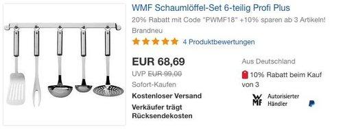 WMF Schaumlöffel-Set 6-teilig Profi Plus - jetzt 20% billiger