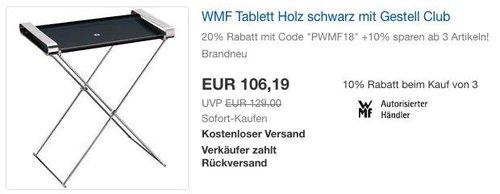 WMF Tablett Holz mit Gestell Club - jetzt 20% billiger