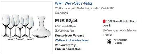 WMF Wein-Set 7-teilig - jetzt 20% billiger