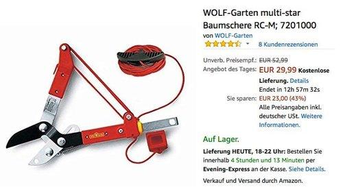 WOLF-Garten multi-star Baumschere RC-M 7201000 - jetzt 27% billiger