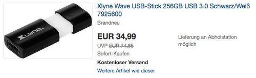 Xlyne Wave USB-Stick 256GB USB 3.0 - jetzt 13% billiger