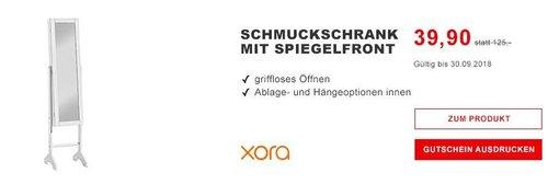 XORA Schmuckschrank mit integriertem Spiegel - jetzt 27% billiger