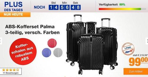 ABS-Kofferset Palma 3-teilig in verscheiden Farben - jetzt 9% billiger