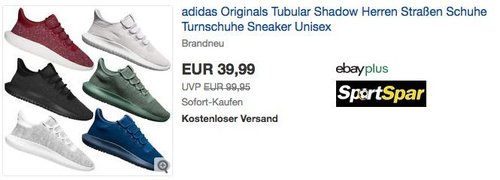 adidas Originals Tubular Shadow Herren Sneaker - jetzt 20% billiger