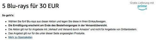 Amazon Aktion: 5 Blu-rays für 30 EUR - jetzt 50% billiger