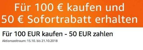Amazon: Für 100 EUR Filme kaufen - 50 EUR sparen (bis 21 Okt. 2018) - jetzt 50% billiger