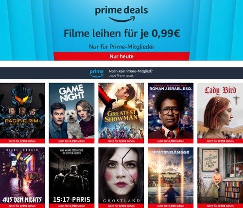 Amazon Freitagskino-Aktion für Prime-Mitglieder: 10 Leih-Filme für je nur 99 Cent, z.B. Game Night - jetzt 80% billiger