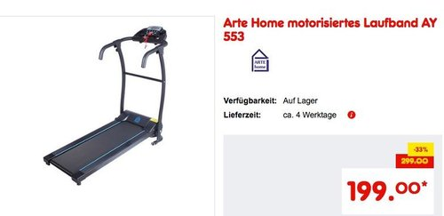 Arte Home motorisiertes Laufband AY 553 - jetzt 13% billiger
