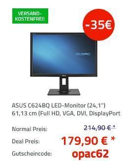 """ASUS C624BQ (24,1"""") 61,13 cm LED-Monitor mit Lautsprecher - jetzt 16% billiger"""