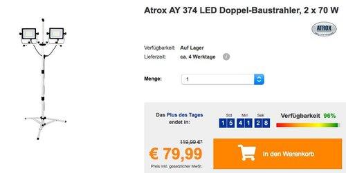 Atrox AY 374 LED Doppel-Baustrahler, 2 x 70 W - jetzt 27% billiger
