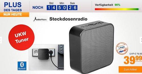 AudioAffairs Steckdosenradio, Plug Radio als USB Powerbank, Freisprecheinrichtung, Küchenradio und  Bluetooth Lautsprecher - jetzt 25% billiger
