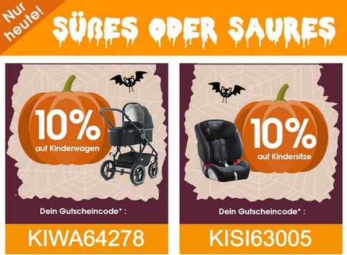Babymarkt.de - 10% Rabatt auf Kinderwagen und Kindersitze: z.B. Kiddy Kindersitz Cruiserfix 3 Mystic Black - jetzt 21% billiger