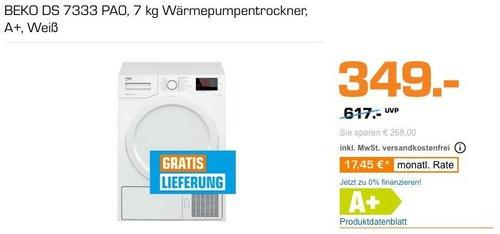BEKO DS 7333 PA0 7 kg Wärmepumpentrockner, A+ - jetzt 10% billiger