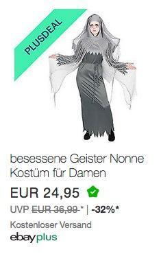 besessene Geister Nonne Kostüm für Damen Halloween - jetzt 10% billiger
