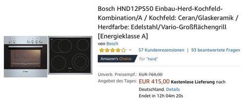 Bosch HND12PS50 Einbau-Herd-Kochfeld-Kombination - jetzt 7% billiger