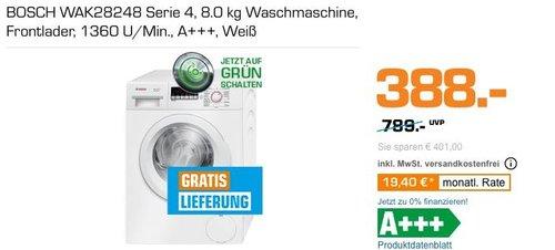 BOSCH WAK28248 8 kg Waschmaschine, A+++ - jetzt 11% billiger