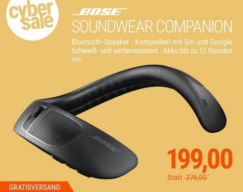 BOSE SoundWear Companion Speaker Bluetoot-Lautsprecher für den Nacken - jetzt 28% billiger