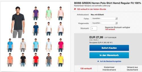 BOSS GREEN Herren Polo Shirt in verschiedenen Farben - jetzt 12% billiger
