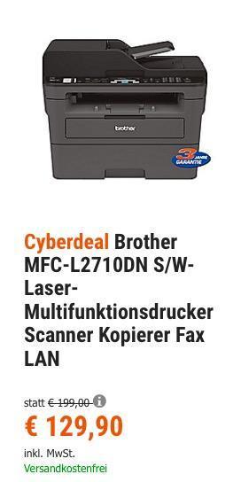 Brother MFC-L2710DN S/W-Laser-Multifunktionsdrucker - jetzt 8% billiger
