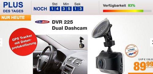 Caliber DVR 225 Dual Dashcam mit GPS - jetzt 14% billiger