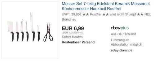 Ceramicle Premium Messer-Set 7-teilig - jetzt 50% billiger