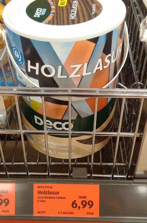 DECO STYLE  Holzlasur 5 Liter - jetzt 30% billiger