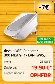 devolo WiFi Repeater 300 Mbit/s - jetzt 26% billiger