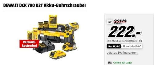 DEWALT DCK 790 D2T Akku-Bohrschrauber + Zubehör Set - jetzt 17% billiger