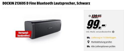 DOCKIN D Fine 50W Bluetooth Lautsprecher in Schwarz - jetzt 7% billiger