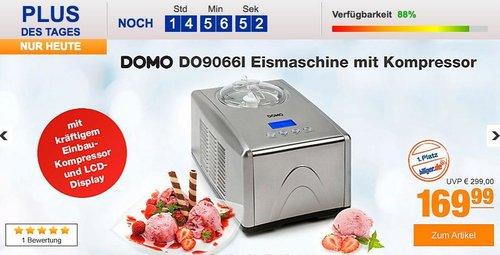 DOMO DO9066I 1,5 Liter Eismaschine mit Kompressor - jetzt 19% billiger