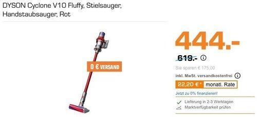 DYSON Cyclone V10 Fluffy Akku-Handstaubsauger - jetzt 23% billiger