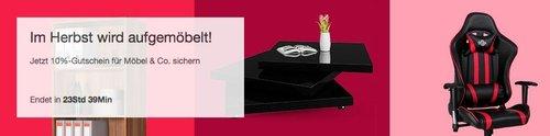 Ebay - 10% Rabatt auf Möbel & Co: z.B. Deuba® NXT Gaming Chair Racer Bürostuhl - jetzt 10% billiger