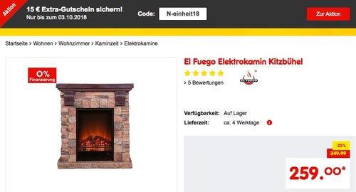 El Fuego Elektrokamin Kitzbühel - jetzt 20% billiger