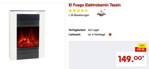 El Fuego Elektrokamin Tessin - jetzt 17% billiger