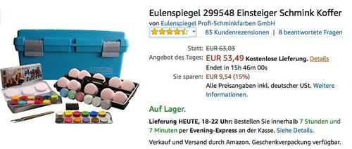 Eulenspiegel 299548 Einsteiger-Schminkkoffer - jetzt 11% billiger