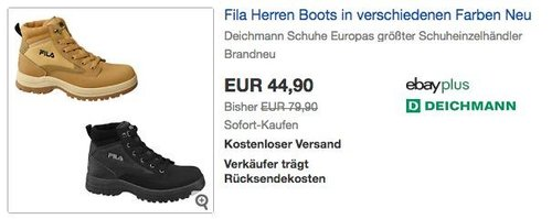 Fila Herren Boots in Braun oder Schwarz - jetzt 30% billiger
