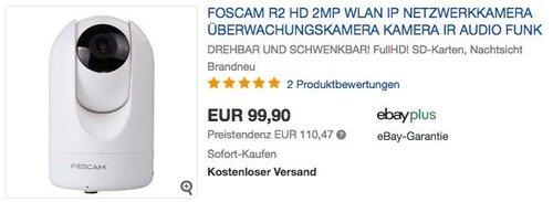 Foscam R2 drehbare und schwenkbare Full-HD IP WLAN Kamera - jetzt 11% billiger